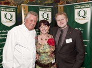 Jim & Odile with celebrity chef Brian Turner at the Q Guild Smithfield Awards presentation 2009.